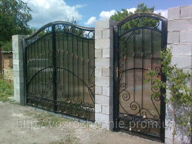 Ворота ковка + поликарбонат M190P