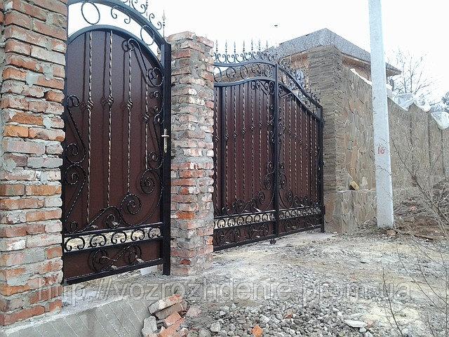 Ворота кованые + композит M190K LUX