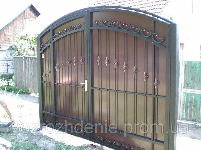Ворота ковка + композит M100K