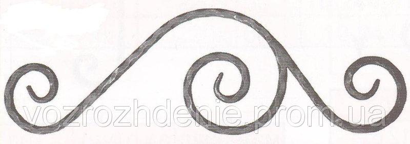 14.002 Декоративный элемент 620*190*12 вальц.