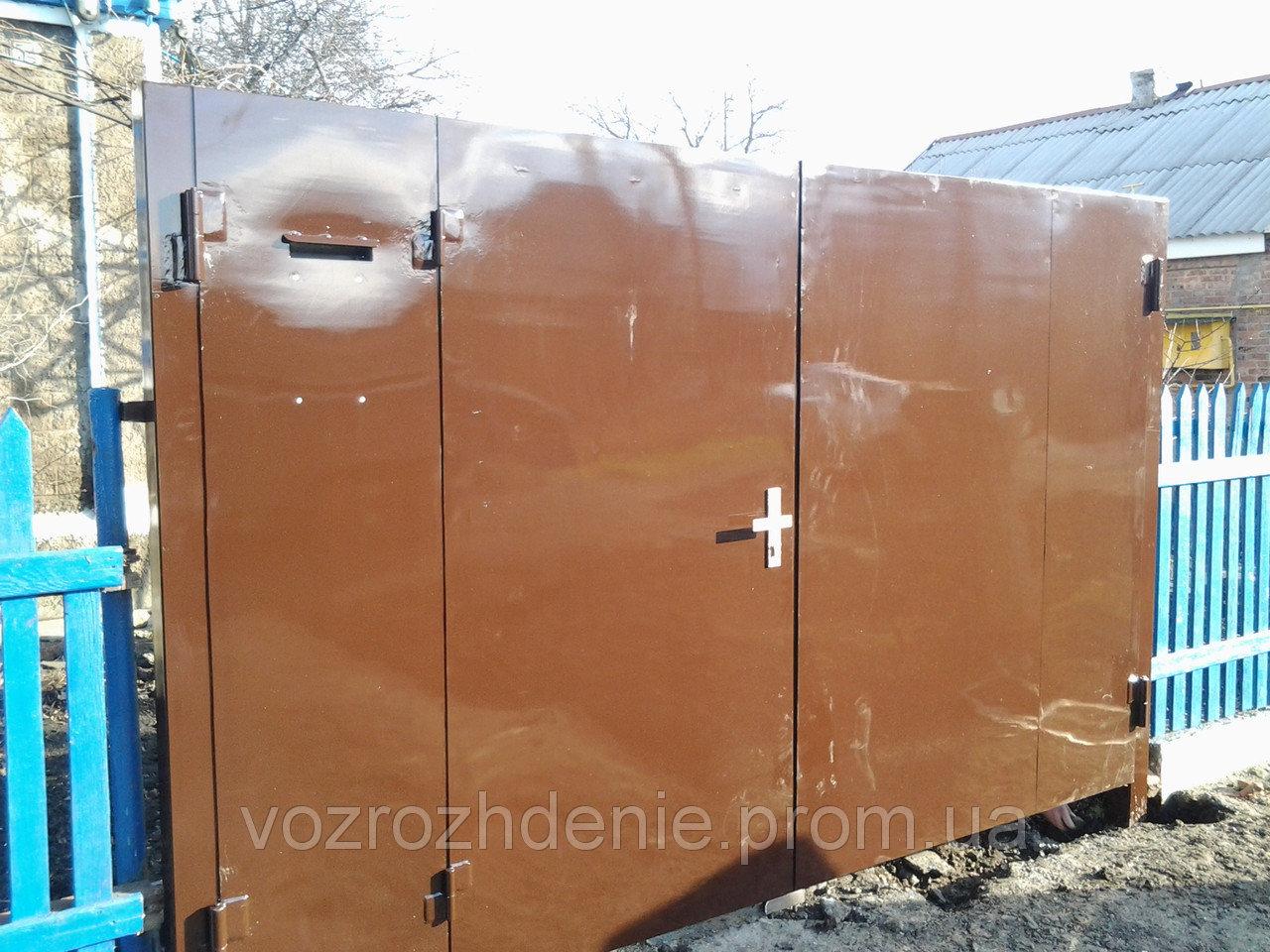 Ворота листовые внутри калитка M230
