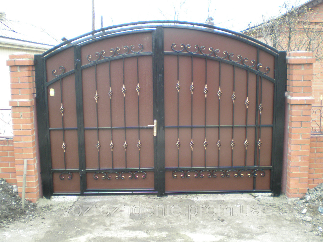 Ворота ковка + композит M120K