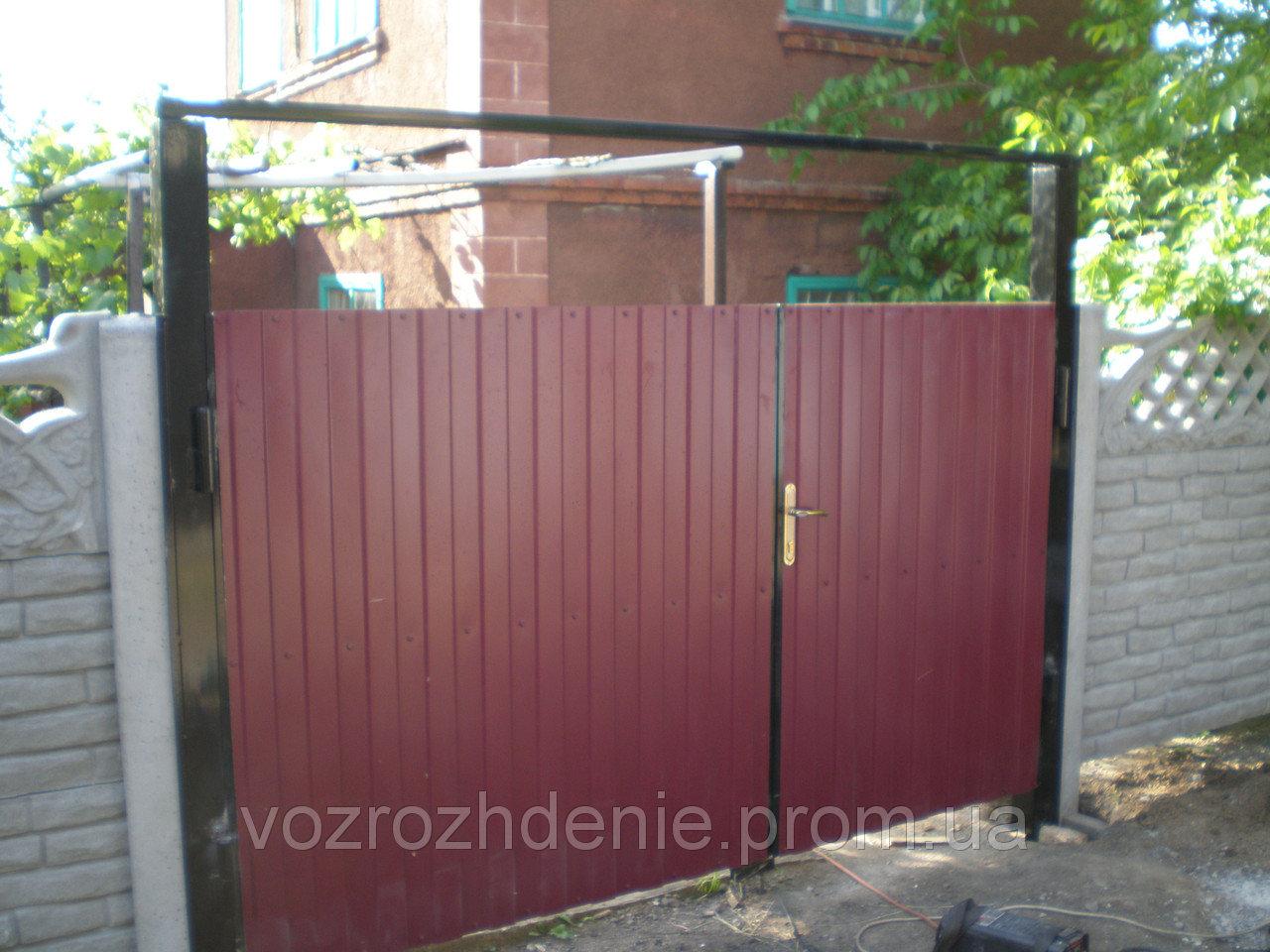Ворота — калитка профнастил M210