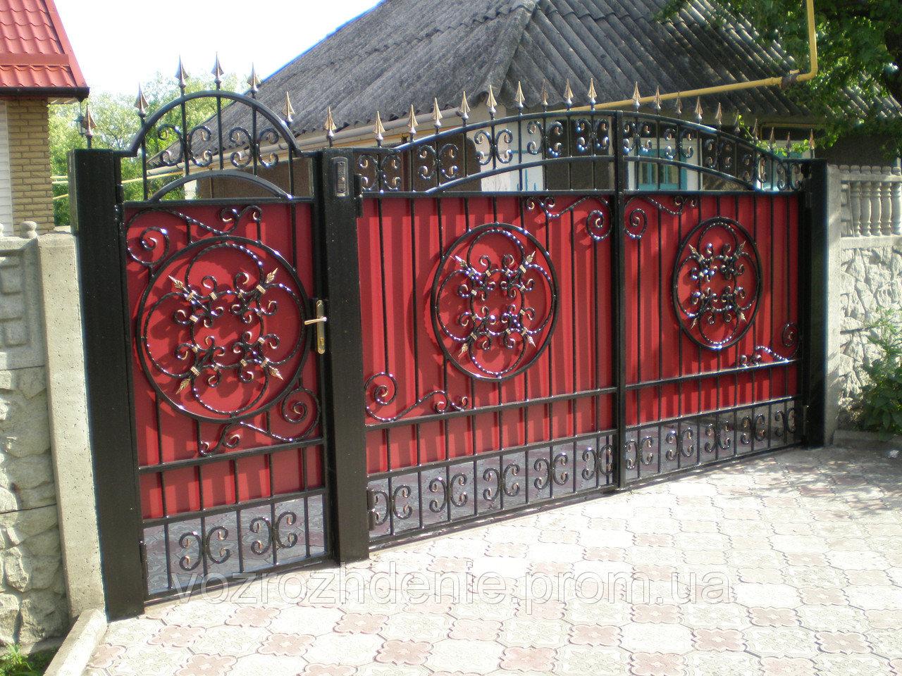 Ворота ковка зашитые композитом M180K