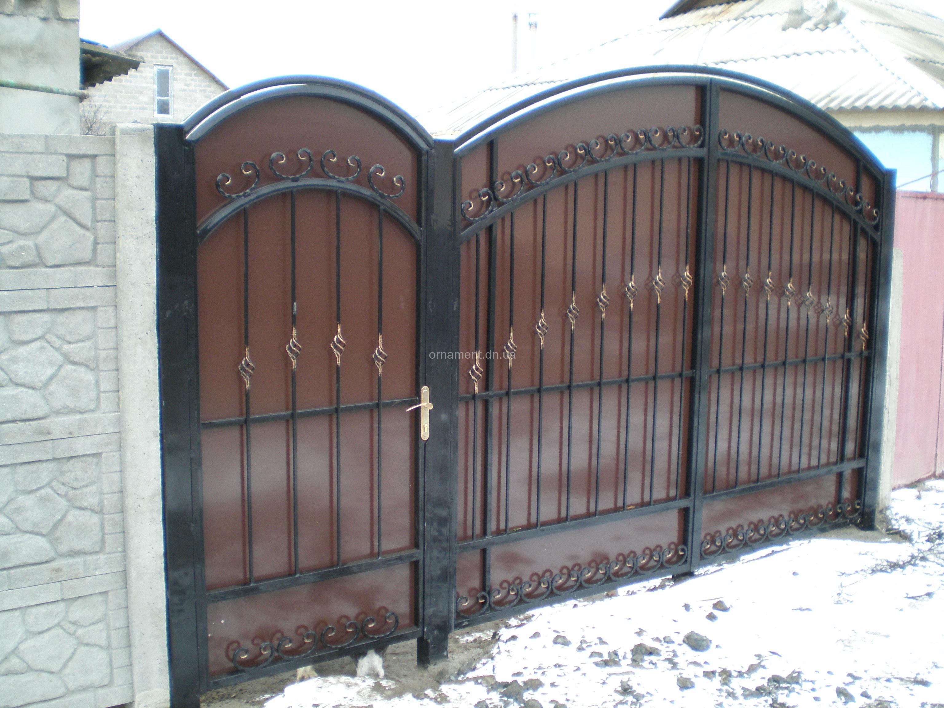 Ворота кованые + композит M140K