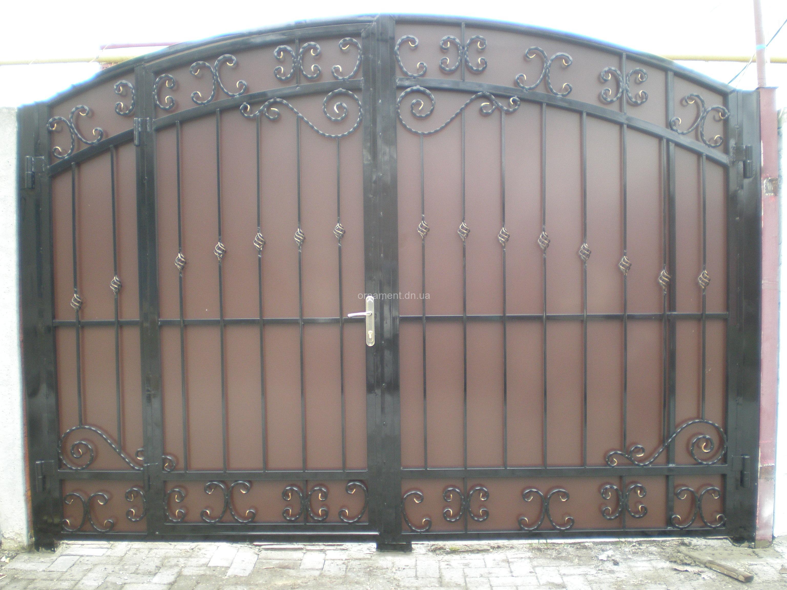 Ворота ковка + композит M130K