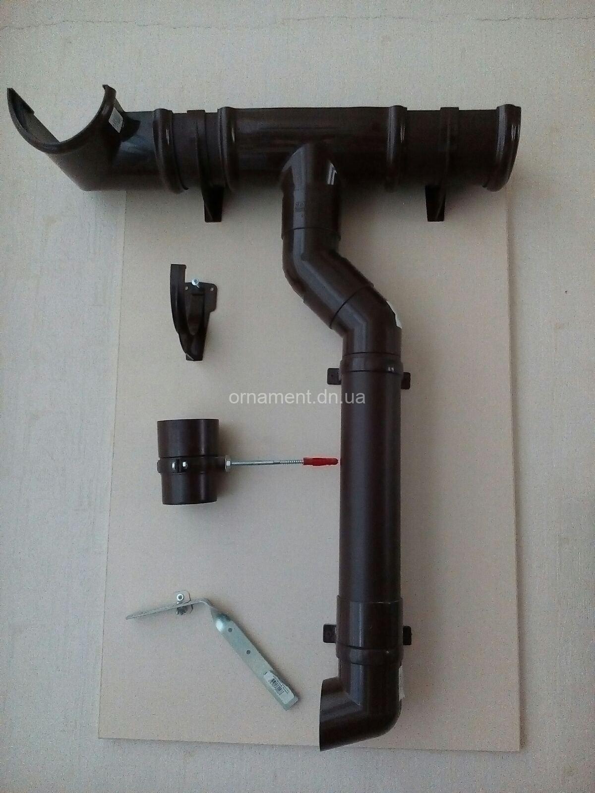 Водосток. Водоотлив. Водосточные системы ПВХ (белая, шоколад)