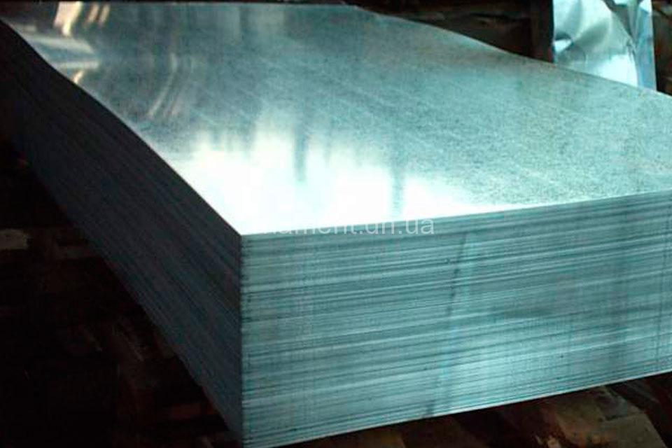 Гладкий ZN Цинк без полимерного покрытия