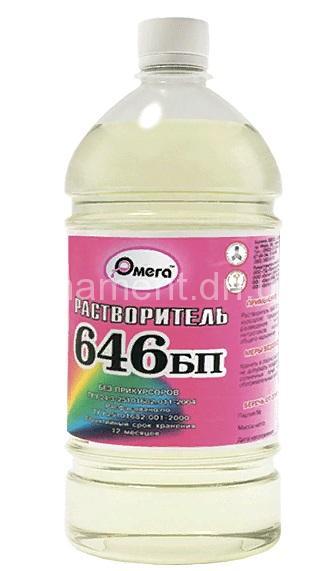 Растворитель Р-646 1 литр (760гр) ПЭТ ОМЕГА