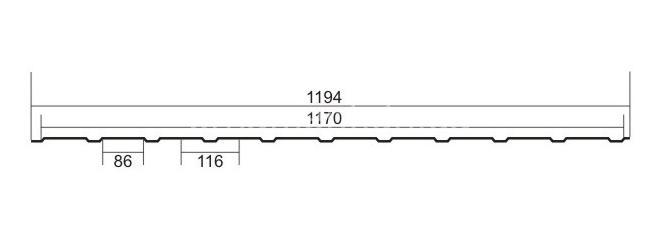 С 8 Zn (Цинк) без полимерного покрытия