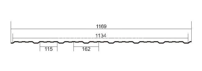 ПС-ПК(Н) 15 Zn Цинк без полимерного покрытия