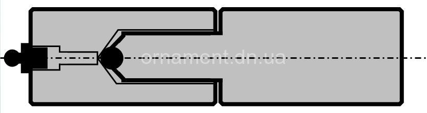 Петля точёная 25х115 с шариком (опрессован) + тавотница