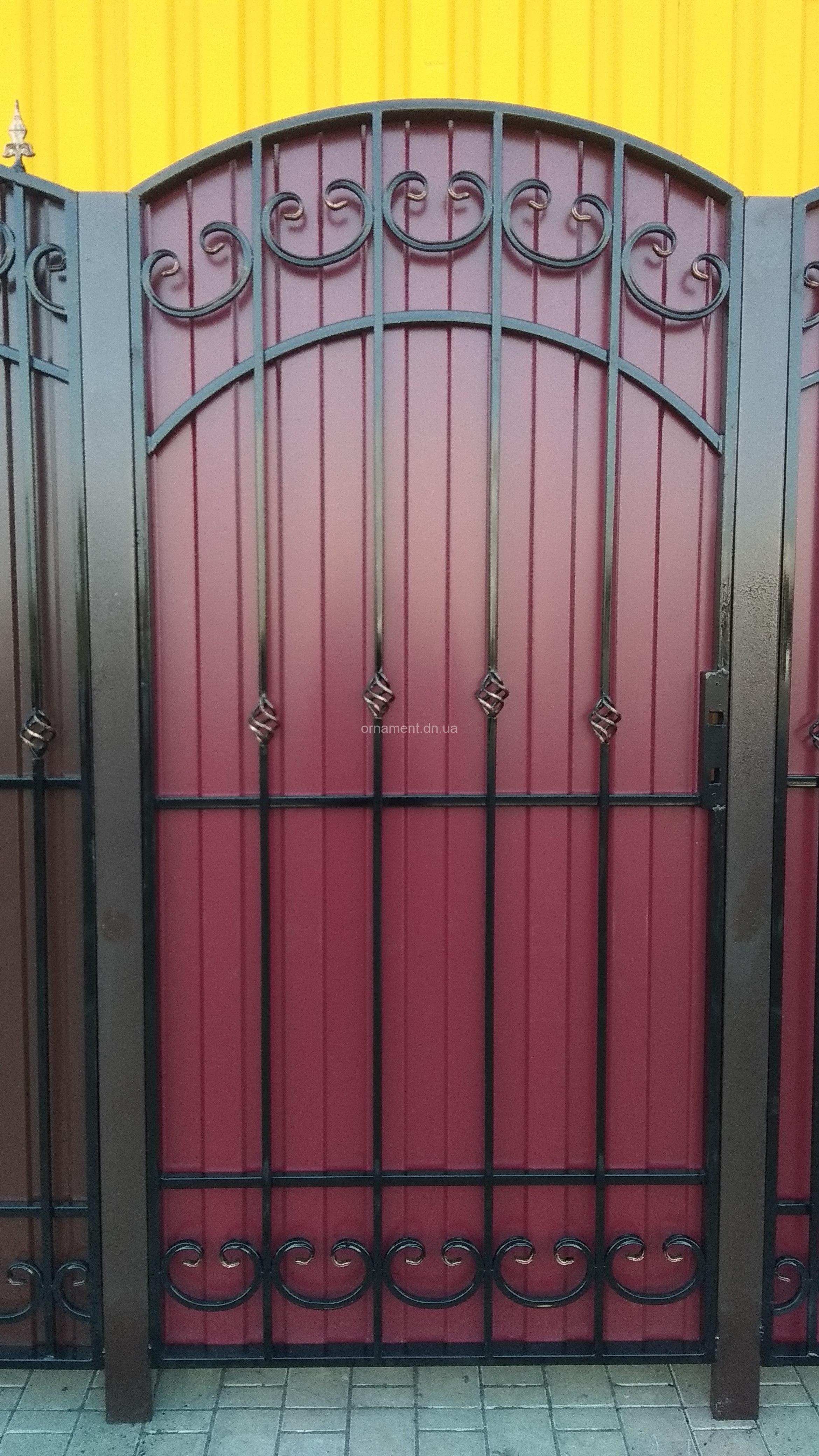 Ворота кованые «Ажур» калитка рядом (без монтажа и столбов)